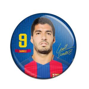 F.C. Barcelona Button Badge Luis Suarez