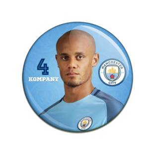 Manchester City F.C. Button Badge Vincent Kompany