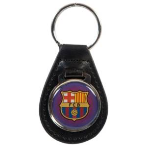 F.C. Barcelona Leather Keychain