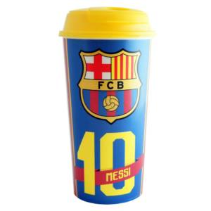 F.C. Barcelona Travel Plastic Bottle/Mug Messi No. 10