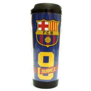 F.C. Barcelona Double Wall Plastic Bottle/Mug Suarez No. 9