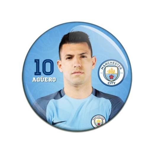 Manchester City F.C. Button Badge Sergio Aguero