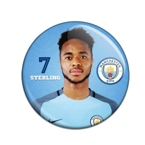 Manchester City F.C. Button Badge Raheem Sterling