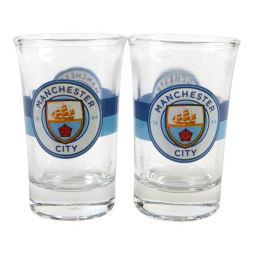 Manchester City F.C 2pk Shot Glass Set CR