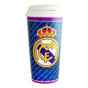 Real Madrid C.F. Travel Plastic Bottle/Mug Crest