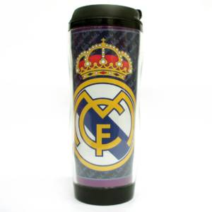Real Madrid C.F. Double Wall Plastic Bottle/Mug Crest
