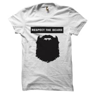 Respect The Beard Half Sleeves Tshirt
