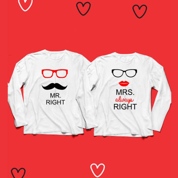 Right Couple Full Sleeves Tshirt