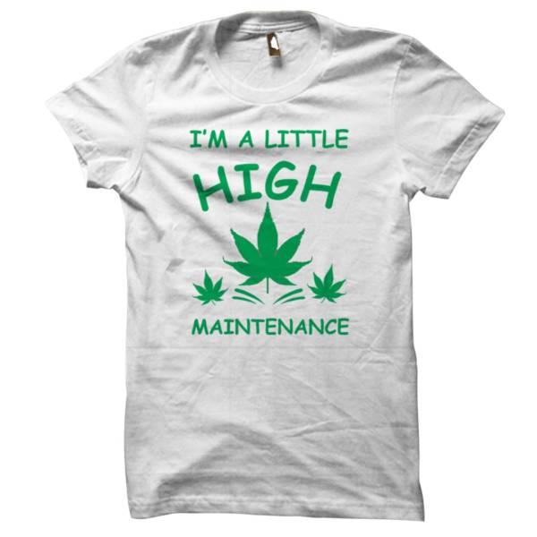 High Maintenance White Tshirt